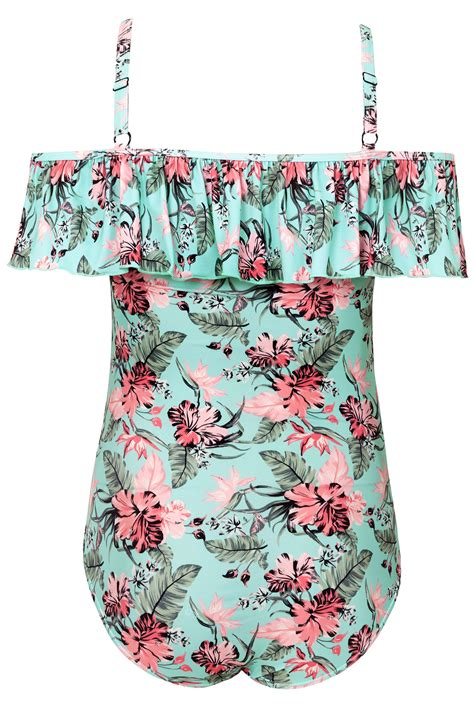 do you wash colors in or cold blue floral print cold shoulder swimsuit with frilled