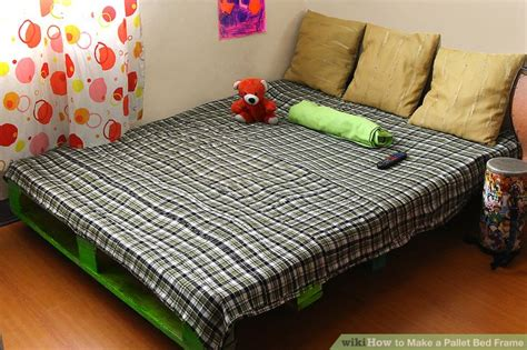how to make bed frame how to make a pallet bed frame 6 steps with pictures