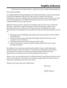 leading professional branch manager cover letter examples