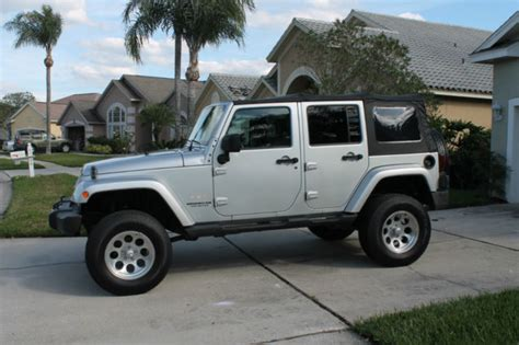 silver jeep lifted 2007 jeep wrangler unlimited w jumpseat silver