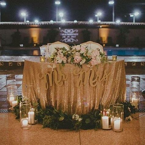 15 Romantic Wedding Sweetheart Table Decoration Ideas   Oh