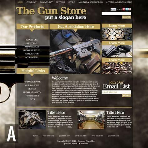 Gun Store Website Templates Gun Shop Website Template