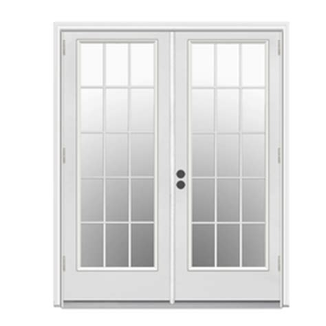 5 Ft Patio Door Shop Reliabilt 5 Ft 11 1 2 In Low E Insulating 15 Lite Fiberglass Outswing Patio Door At