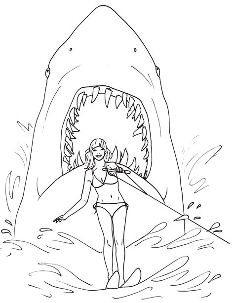 jaws coloring pages to print best coloring page 2015 great