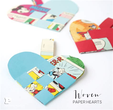 How To Make Woven Paper Hearts - woven paper hearts pysselbolaget easy crafts for