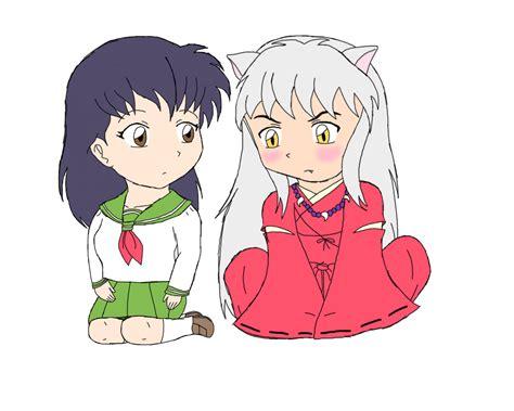 imagenes kawaii de inuyasha kagome and inuyasha chibi form by colorful emotions on