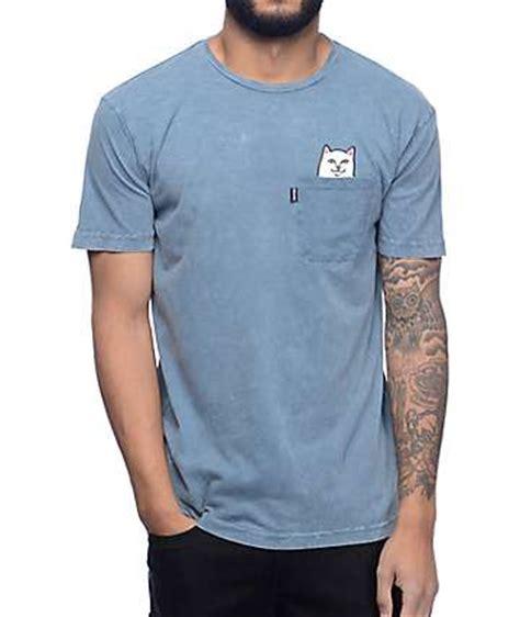 Kaos T Shirt Ripndip Lord Nermal Pocket Pink pocket tees zumiez