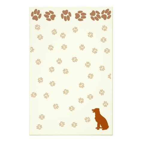 free printable dog stationery free paw print printable stationary joy studio design