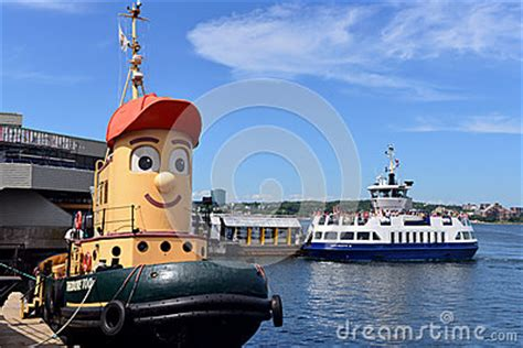 tugboat children s show theodore tugboat and dartmouth ferry editorial stock image