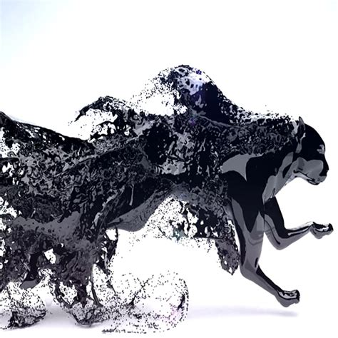 jaguar commercial featuring a jaguar in fluid liquid