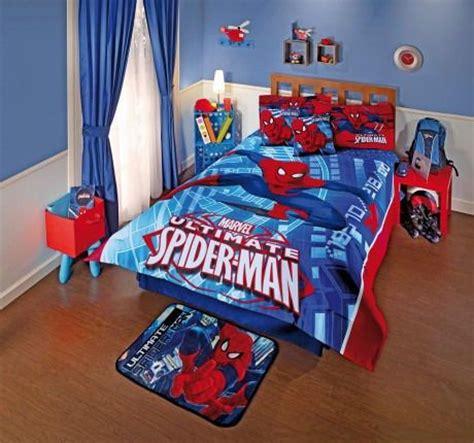 boys spiderman bedroom ideas new boys kids marvel blue red spider man attack comforter