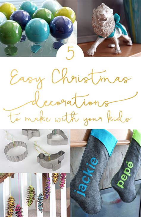 5 easy decorations to make with your