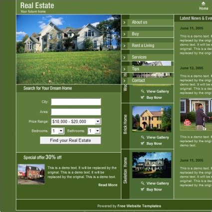 Real Estate Template Free Website Templates In Css Html Js Format For Free Download 62 85kb Real Estate Website Templates Free