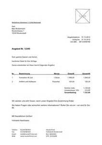 Vorlage Angebot Restaurant Kostenlose Angebotsvorlage Zum Lexoffice