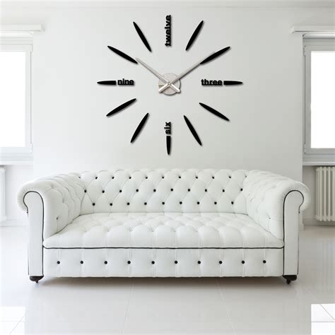 decoration modern wall clock art home decor large diy 3d diy large watch wall clock decor modern design stickers
