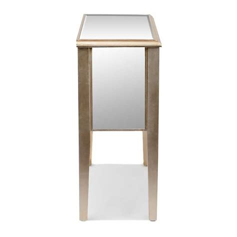 Kirklands Console Table Chagne Mirrored Drawer Console Table Kirklands