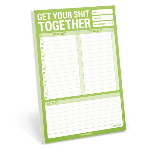 libro get your sht together knock knock rocks office supplies for realz