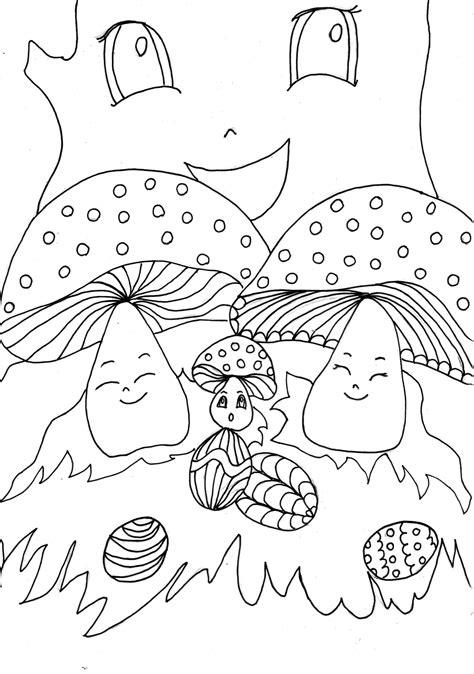 imagenes para pintar sobre la primavera dibujo colorear the mushroom familly gets eggs dibujo de
