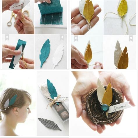 diy accessories 10 clever ideas for your feather themed wedding