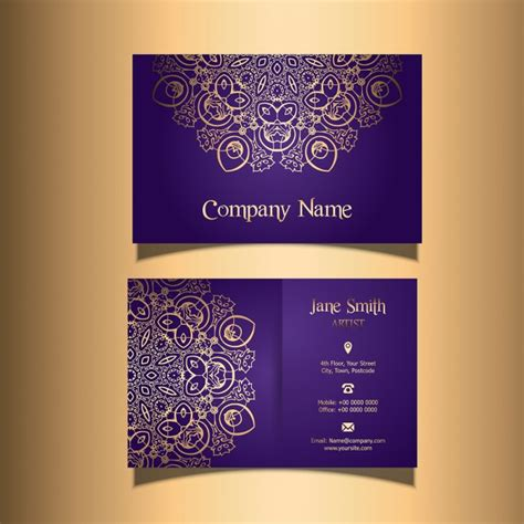 stylish design business card with a stylish design vector free