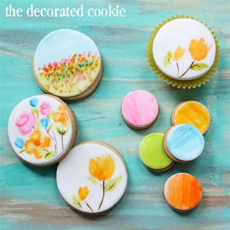 The Decorated Cookie by Food Coloring Watercolor Effect For Painted Cookies And
