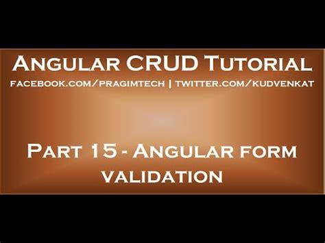 pattern validation in angular 4 angular form validation youtube
