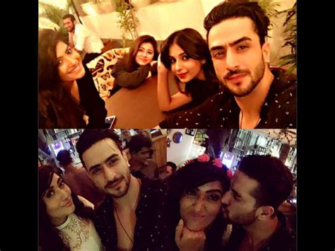 vivek dahiya snapchat yeh hai mohabbatein actress shireen mirza parties with