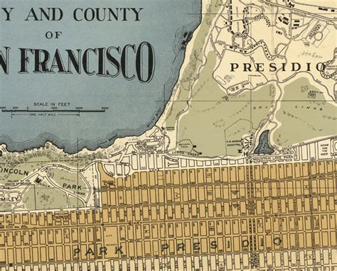 san francisco map vintage map of san francisco 1920 maps and vintage prints