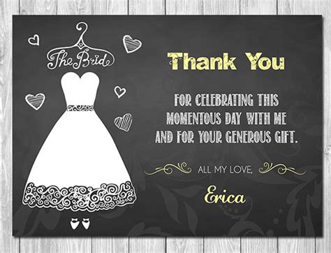 Thank You Card For Bridal Shower Gift - 17 bridal shower thank you cards free printable psd eps format download free