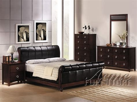 milano bedroom set 6 piece milano iii bedroom set in cappuccino finish by