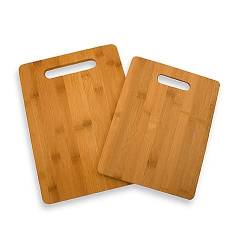 Kitchen Knives Set by Bamboo Cutting Boards Set Of 2 Bed Bath Amp Beyond