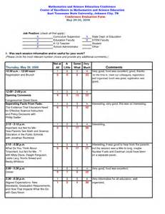 conference survey template best photos of templates for conference evaluation sheets