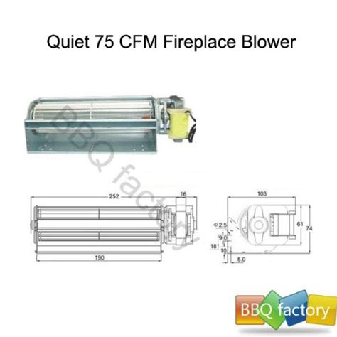 bbq factory replacement fireplace fan blower for heat