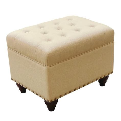 Danbury Tufted Storage Ottoman With Nailheads Target Nailhead Storage Ottoman