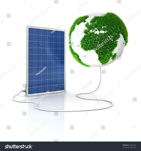 solar panel green renewable energy save stock illustration