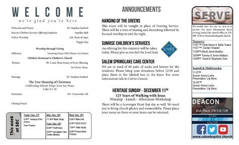 contemporary church bulletin