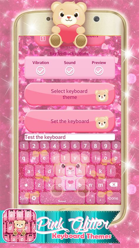 keyboard themes mobile9 pink glitter keyboard themes android apps on google play