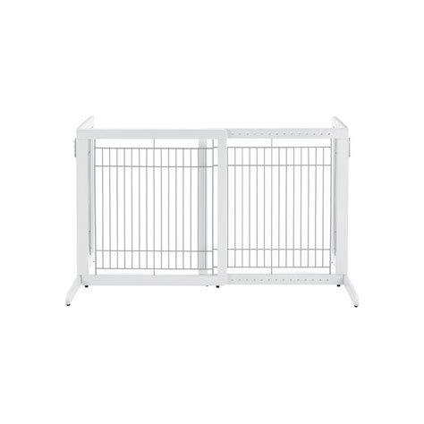 richell hs wood freestanding pet gate in white 94158 the