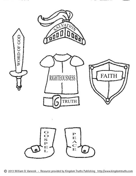 armor of god coloring pages az coloring pages