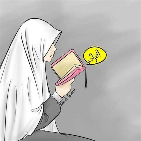 wallpaper wanita cantik 3d photos gambar kartun muslimah drawing art gallery