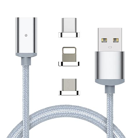 3 in 1 magnetic cable micro usb type c usb c data charge