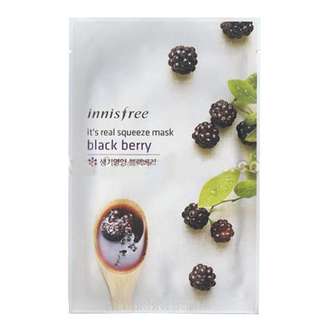 Innisfree My Real Squeeze Mask 100 Original 1 innisfree it s real squeeze mask black berry 5ea