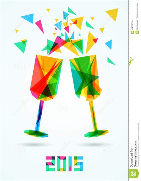 new year illustrator vector happy new year 2015 greeting card vector illustration