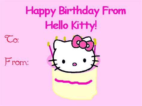 Hello Birthday Card Hello Kitty Greeting Card On Scratch