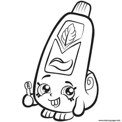shopkins coloring pages rainbow bite print cartoon toothpaste shopkins season 1 coloring pages