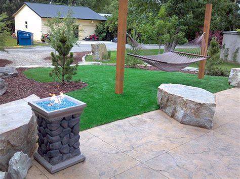 Small Backyard Ideas No Grass Artificial Grass Fargo North Dakota Putting Greens