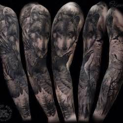 Firefighter tattoos the raven the crow ravens wolf tattoos sleeve