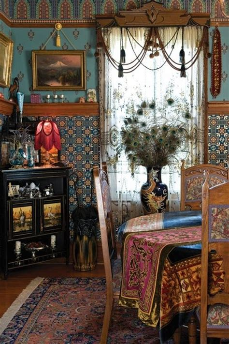 bohemian interior design artistic bohemian decor bohemian home dining room