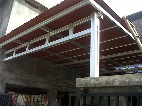 Kanopi Atap Minimalis kanopi minimalis rangka galvanis atap onduline griya las