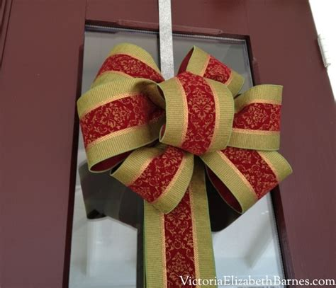 diy decorations bows how to make a bow a step by step tutorial front door